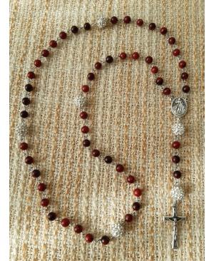 Вервиця на ланцюжку з дорогоцінного каменю (Хризоколла)